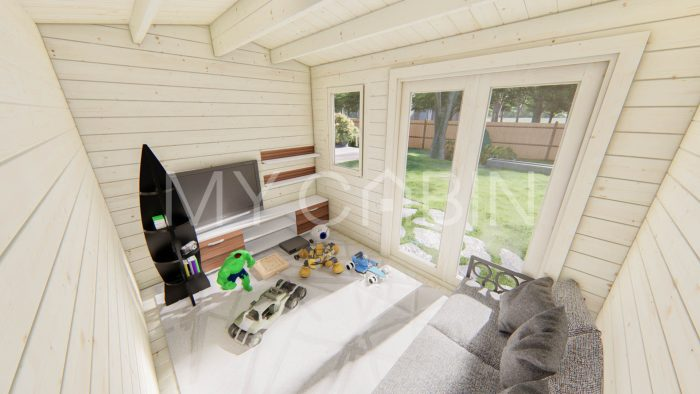 Carlow Garden Log Cabin Interior