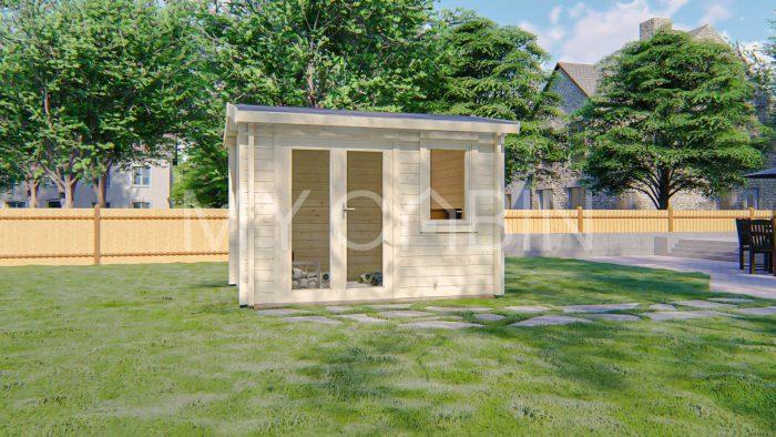 Carlow Garden Log Cabin Exterior