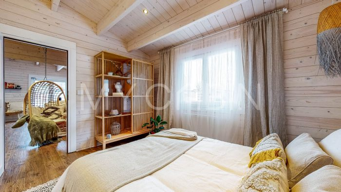 Two Bed A Residential Log Cabin Interior