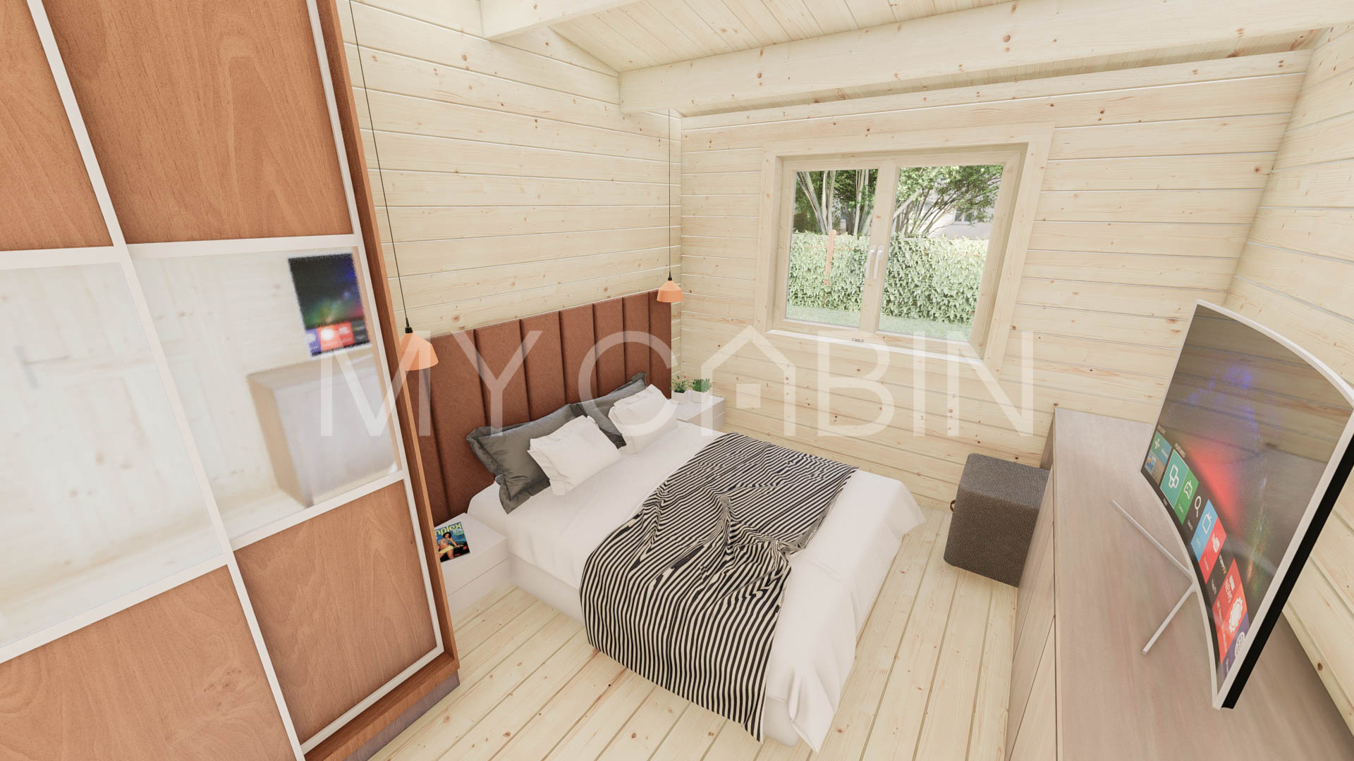 One Bed A2 Log Cabin Log Home Interior