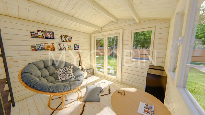 Laois Garden Log Cabin Interior
