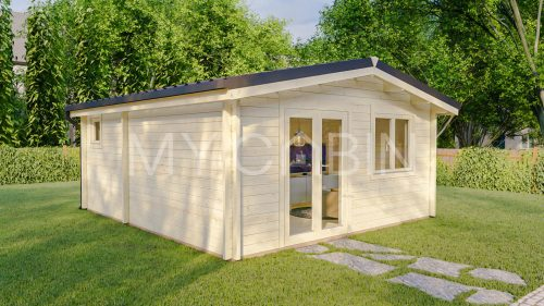 One Bed A2 Log Cabin Log Home Exterior