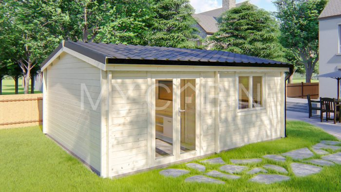 One Bed Type A Residential Log Cabin Exterior