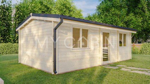 One Bed D2 Log Cabin Log Home Exterior