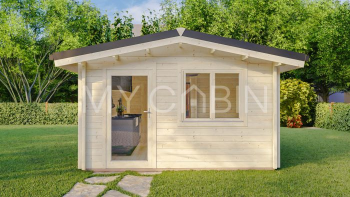 One Bed D Residential Log Cabin Exterior