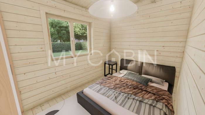 Budget Two Bed Log Cabin Log Home Interior