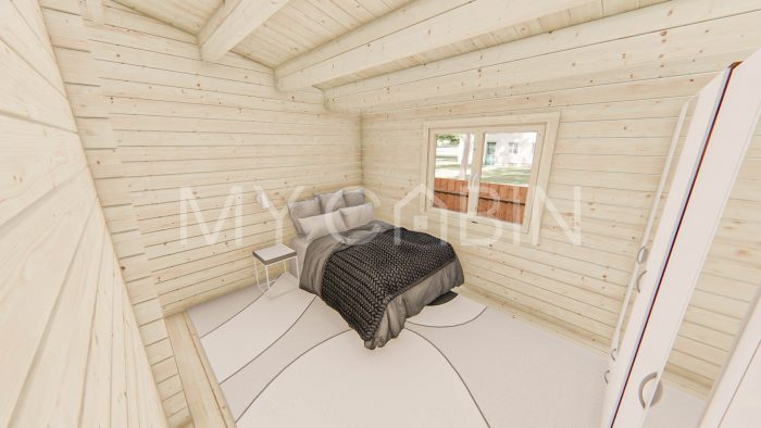 Two Bed B Log Home Interior