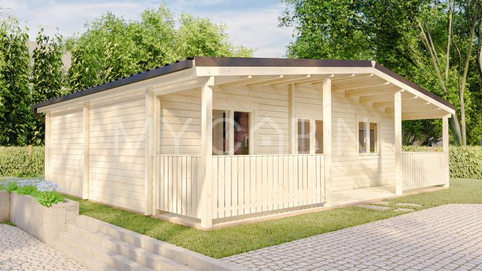 Two Bed C Residential Log Cabin Exterior