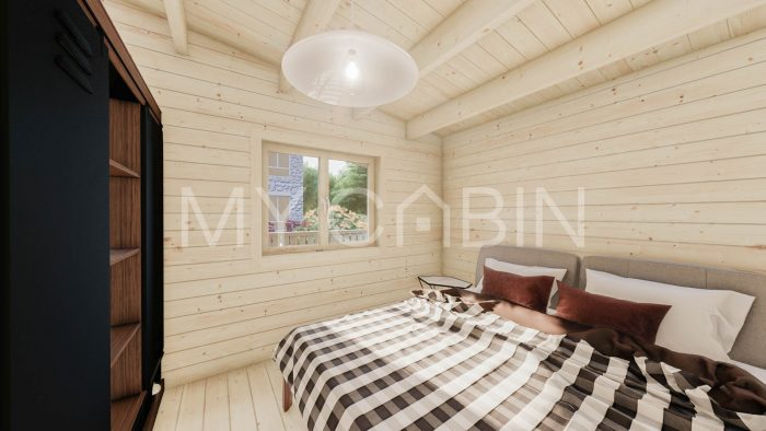 Two Bed C Residential Log Cabin Interior