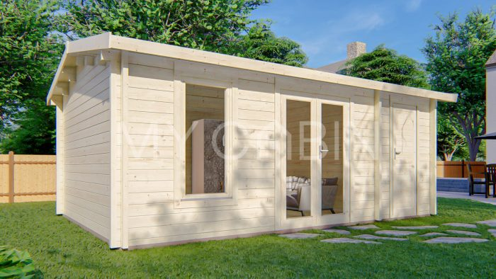 Longford Two Room Storage Log Cabin Exterior