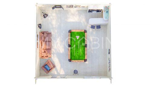 Donegal Garden Log Cabin Floor Plan