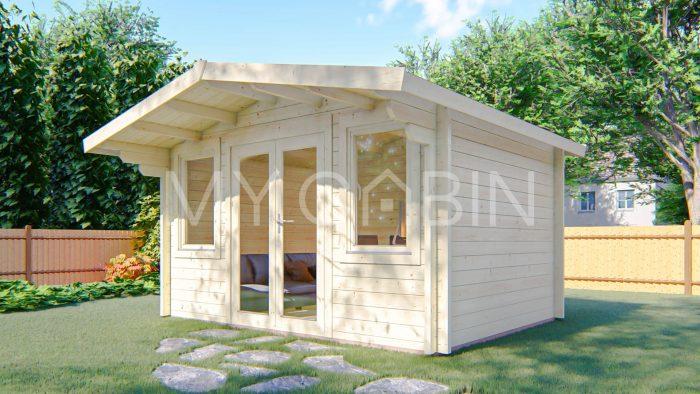 Galway Garden Log Cabin Exterior