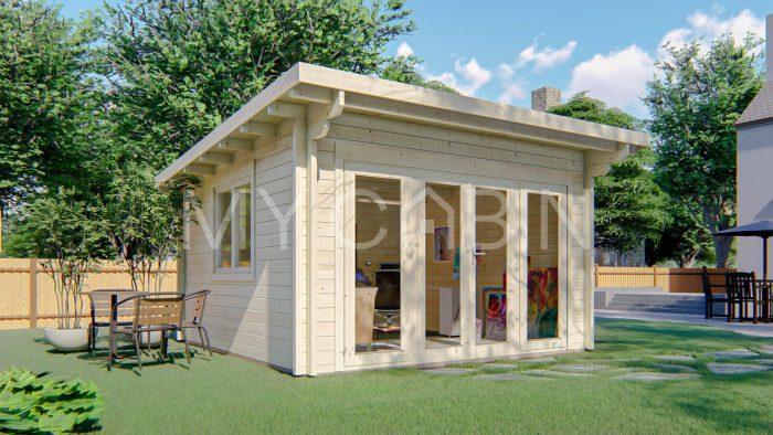 Kildare Garden Log Cabin Exterior