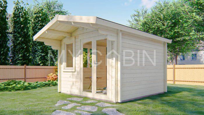Laois Garden Log Cabin Exterior